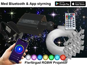 Stjärnhimmelpaket 16W RGBW Fjärrkontrol + App 8kvm