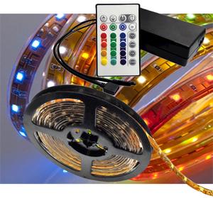 Ledtejp RGB 7,2W/m el. 14,4W/m Fjärrk. Kit