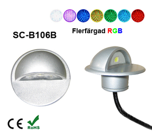 Deck/Floorlight Lampa 0,4W Keps RGB