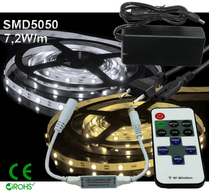 Ledtejp Dimbart Microkontroller Kit SMD5050 7,2W/m Varmvit, Vit el. Kallvit