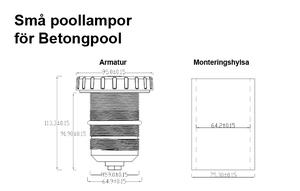 Små Poollampor Betong & Linerpool Enfärgade