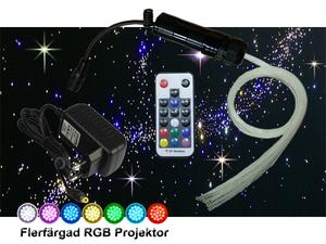 Stjärnhimmelpaket Mini 3W Ledprojektor RGB 1,5kvm