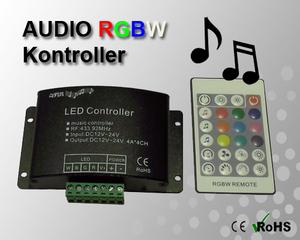 RGBW Audio Kontroller 12-24VDC 16A