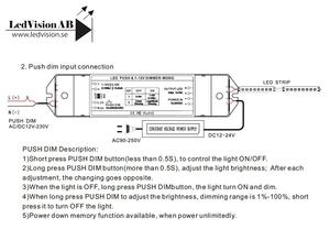 PWM 0-10V & Pushdimmer 12-24VDC 10A