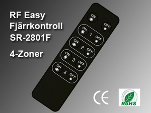 RF Easy Fjärrkontroll SR-2801F 4-zoner