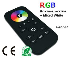 SR-2810RGB +W Programmerbar Fjärrkontroll 4-zoner