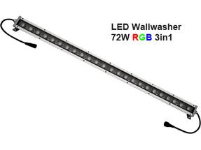 Led Wallwasher 24VDC 72w 3in1 RGB