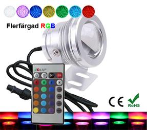 Trädgårdslampa 10W RGB IR Fjärrkontroll