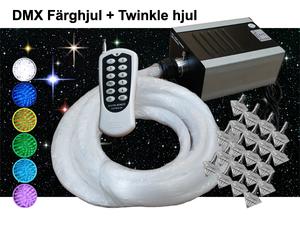 Stjärnhimmelpaket 20W DMX Twinkle Dimbar Ledprojektor 9kvm