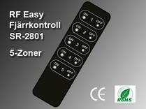 RF Easy Fjärrkontroll SR-2801 5-zoner
