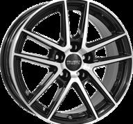 """17"""" ANZIO SPLIT - Gloss Black / Polished 7,5x17 - ET45"""