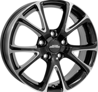 "17"" INTER ACTION PULSAR - Gloss Black / Polished 7x17 - ET40"