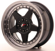 "16"" JAPAN RACING JR6 GLOSSY BLACK"
