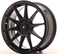 "18"" JAPAN RACING JR11 GLOSSY BLACK"