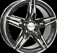 "19"" MONACO GP1 - Gloss Black / Polished 8x19 - ET30"