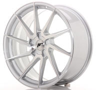 "20"" JAPAN RACING JR36 BRUSHED SILVER"
