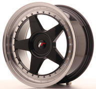 "18"" JAPAN RACING JR6 GLOSSY BLACK"