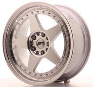 "18"" JAPAN RACING JR6 SILVER MACHINED"