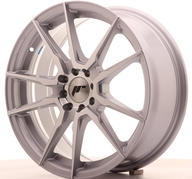 "17"" JAPAN RACING JR21 SILVER MACHINED"
