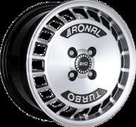 "15"" RONAL R10 TURBO - Gloss Black / Polished 7x15 - ET37"