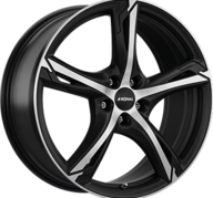 "19"" RONAL R62 - Dull Black / Polished 8x19 - ET45"