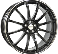 "20"" MONACO MASSENET - Gloss Black / Polished 9x20 - ET40"
