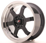 "16"" JAPAN RACING JR12 GLOSSY BLACK"
