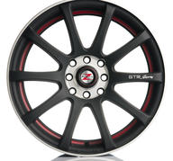 "18"" Barzetta GTR M Black Red Polish 5x100/112 - 7,5x18 - ET35 - 66,6"