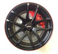 """16"""" INTER ACTION RED HOT - DULL BLACK / RED"""