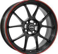 "15"" INTER ACTION PHOENIX - Gloss Black / Red 6,5x15 - ET25"