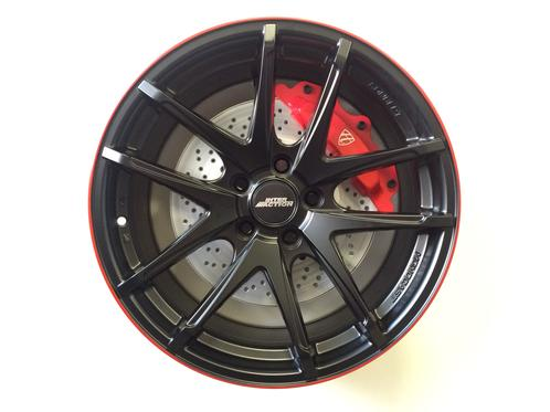"""18"""" INTER ACTION RED HOT - DULL BLACK / RED"""