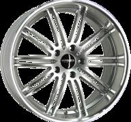 "19"" MONACO CHICANE - Hyper Silver / Polished 9,5x19 - ET20"