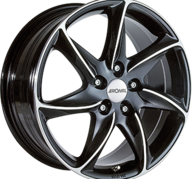 "15"" RONAL R51 - Gloss Black / Polished 6,5x15 - ET45"