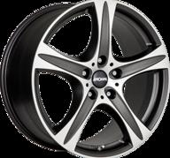 "19"" RONAL R55 SUV - Dull Black / Polished 9x19 - ET55"