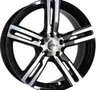 "16"" INTER ACTION KARGIN - Gloss Black / Polished 6,5x16 - ET50"