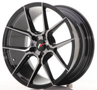 "18"" JAPAN RACING JR30 BRUSHED BLACK"