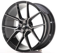 "19"" JAPAN RACING JR30 BRUSHED BLACK"