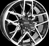 "19"" MONACO GP9 - Gloss Black / Polished 8,5x19 - ET32"