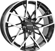 "19"" MONACO GP9 - Gloss Black / Polished 8,5x19 - ET45"
