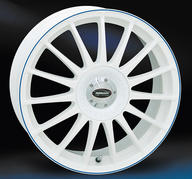 """18"""" TD Monza RS - White Blue"""