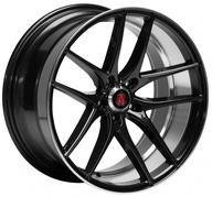 "19"" AXE WHEELS EX19 - Glossy Black Face Polished Lip & Barrel"