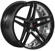 "19"" AXE WHEELS EX20 - Glossy Black Polished Barrel"