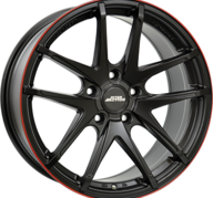 "17"" INTER ACTION RED HOT - Dull Black / Red 7,5x17 - ET42"