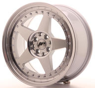 "17"" JAPAN RACING JR6 MACHINED SILVER"