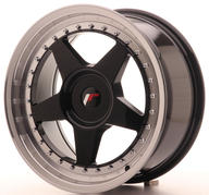 "17"" JAPAN RACING JR6 GLOSSY BLACK"