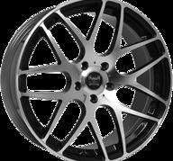 "19"" SOLEIL LXM-1 - Gloss Black / Polished 9,5x19 - ET38"
