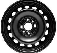 """14"""" KRONPRINZ STEEL STAAL - Black 5,5x14 - ET35"""