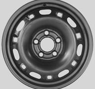 """14"""" KRONPRINZ STEEL STAAL - Black 6x14 - ET43"""