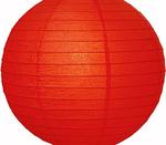 Papperslykta Röd. 40 cm