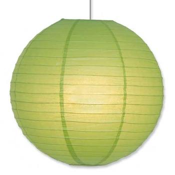 Papperslykta Grön. 40 cm